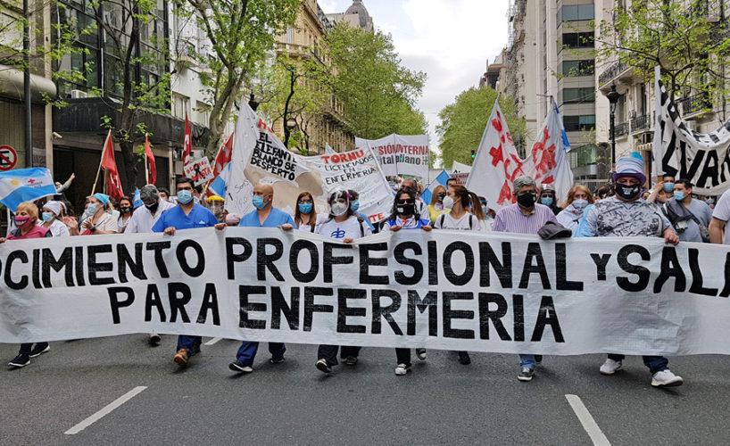 CABA: Masiva marcha de enfermería por el reconocimiento profesional – Canal  Abierto