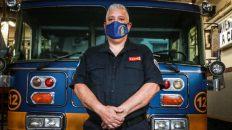 Marcelo Medina, jefe de bomberos voluntarios de La Boca