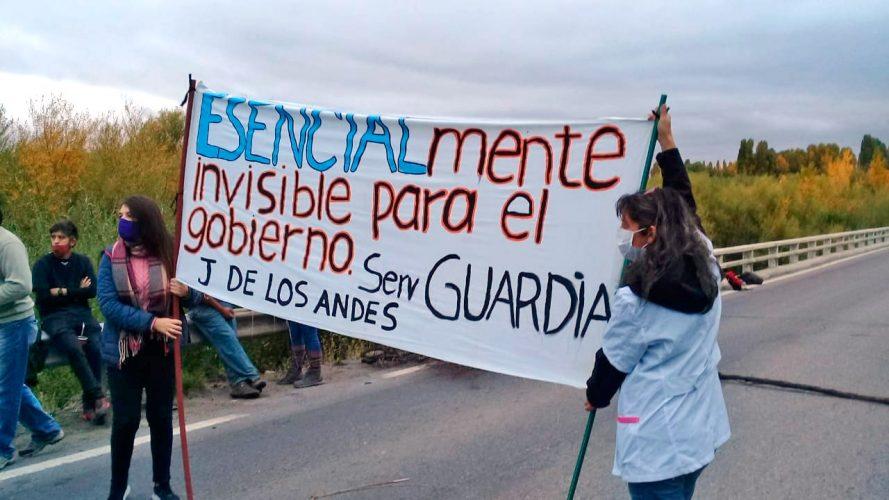 Corte de ruta Neuquén huelga de la Salud