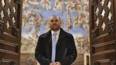 Martín Guzmán en El Vaticano