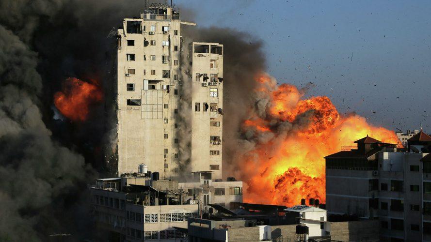 bombardeo de Israel a territorios palestinos