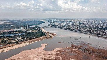 La bajante del río Paraná