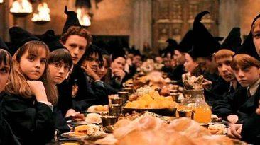 a la mesa con harry potter
