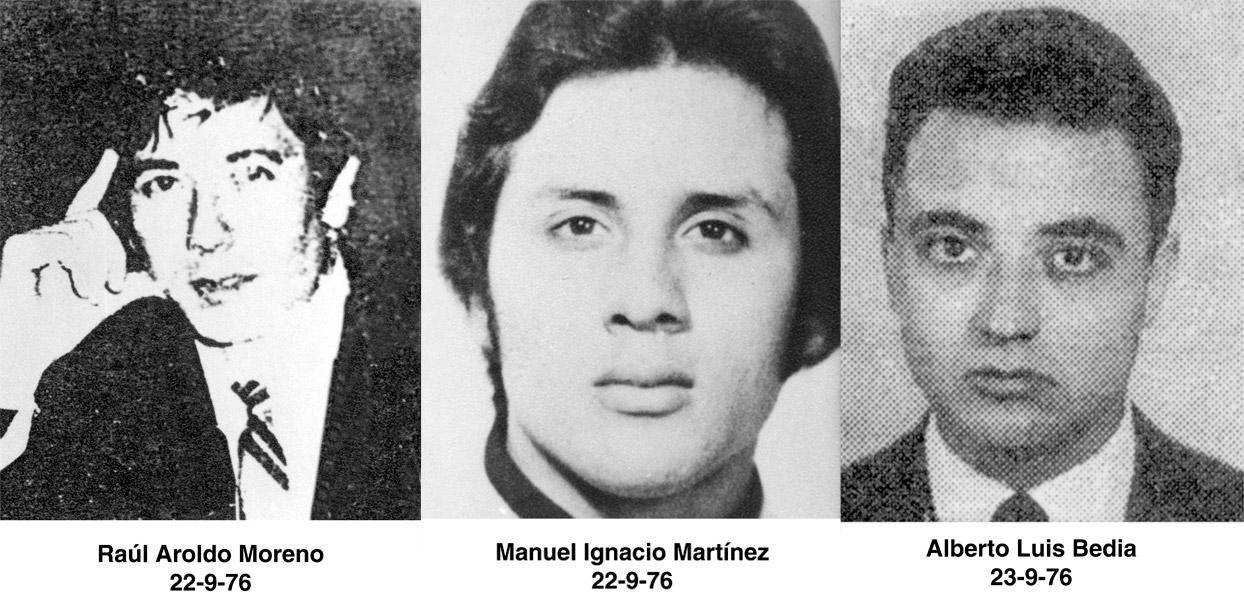 Tres de los obreros secuestrados en la Noche de los tubos